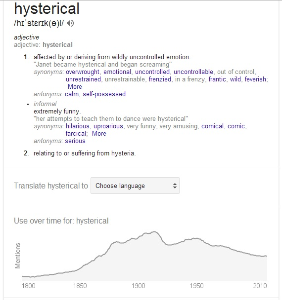 Hysterical definition