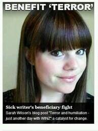 Sarah Wilson - 'Benefit terror' (haha)